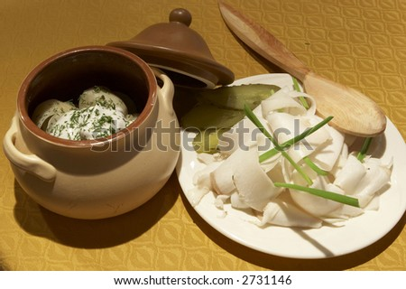 Russian food - stock photo