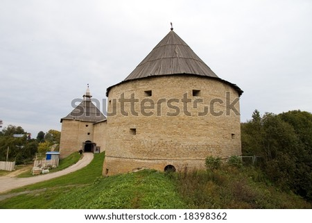 Russian fortress Old Ladoga (VIII century AD) the Volkhov region, Russia