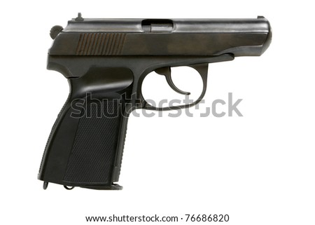 Russian handgun PMM-Makarov isolated on a white background