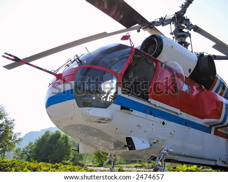 russian helicopter - stock photo
