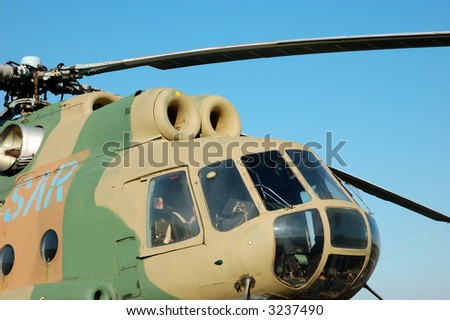 Russian Helicopter Mi-8 - stock photo