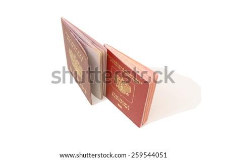 Russian identity card - stock photo