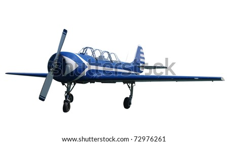 Russian Made Light Aircraft isolated with clipping path