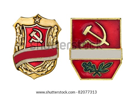 Russian medals, badges... - stock photo