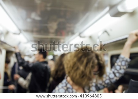 Russian Metro (Subway) (Carriage) blur