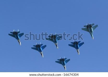 Russian military airplane - stock photo