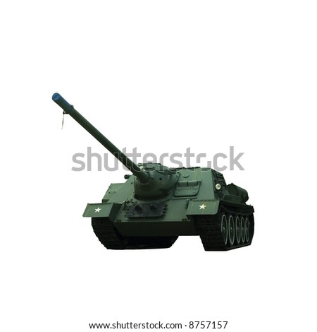 Russian military armored tank isolated - stock photo