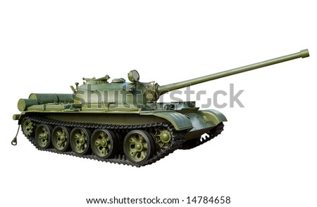 russian military tank isolated on white background