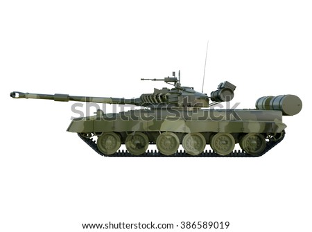 Russian military tank T-90. isolate on white background