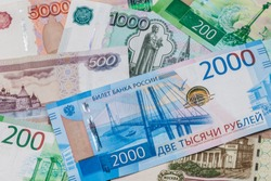 New 2000 And 200 Rubles, Old Banknotes In Denominations Of 100