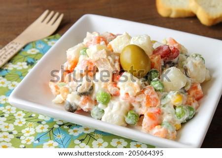 Russian Olivier Salad - stock photo