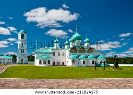 Russian Orthodox Alexander-Svirsky Monastery in Leningrad region, Russia - stock photo