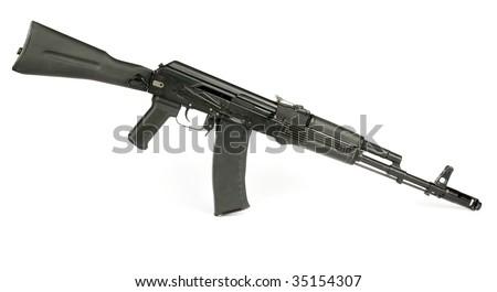 Russian rifle Kalashnikov ak74m - stock photo