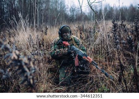Russian special forces soldier. - stock photo