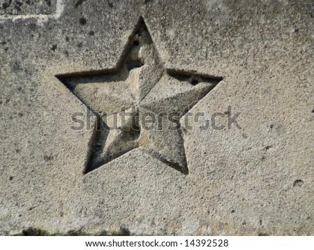Russian Star - stock photo