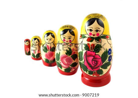 Russian Toys - stock photo