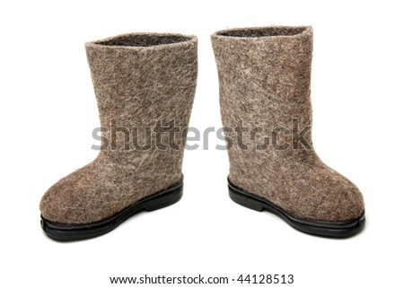 Russian traditional winter felt boot valenki shoes
