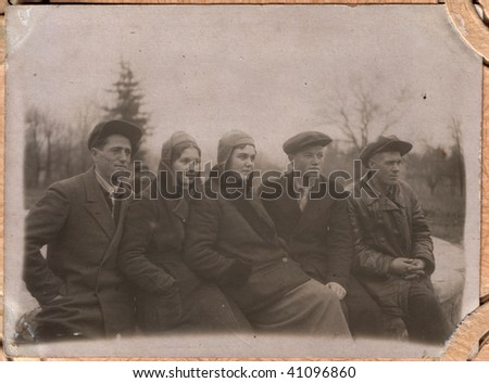 Russian vintage photograph, beginning of XX century - stock photo