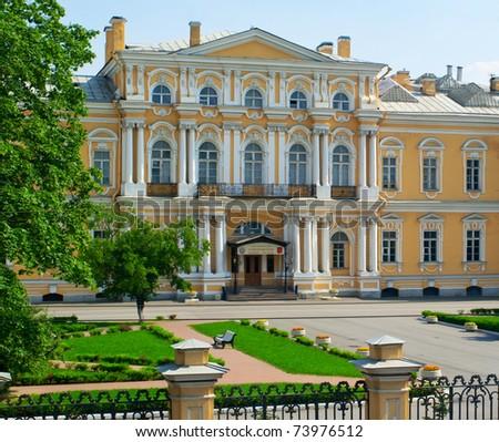Russian war school named for Suvorov, Saint-Petersburg - stock photo