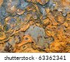 Rust closeup texture background. - stock photo