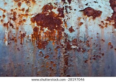 Rust mottled background - stock photo