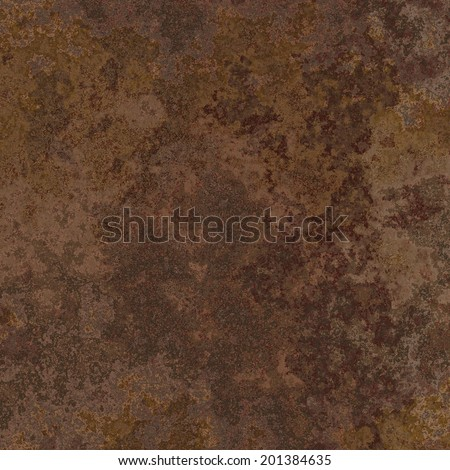Rust on an old brown metal surface - stock photo