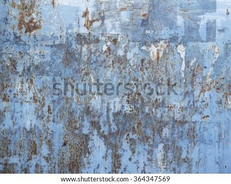 rust on metal wall texture - stock photo