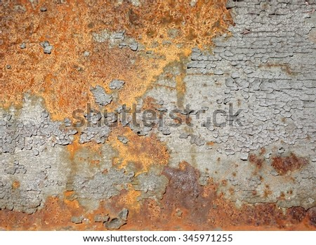 rust on the steel structure of a bridge - stock photo