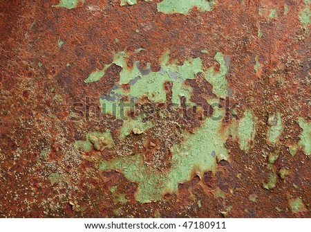 rust painted metal - stock photo