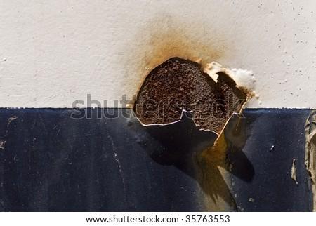 rust spot - stock photo