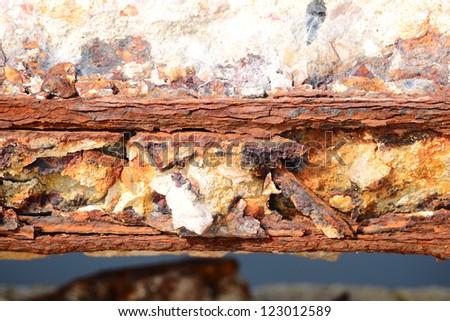 Rust steel or steel poles - stock photo