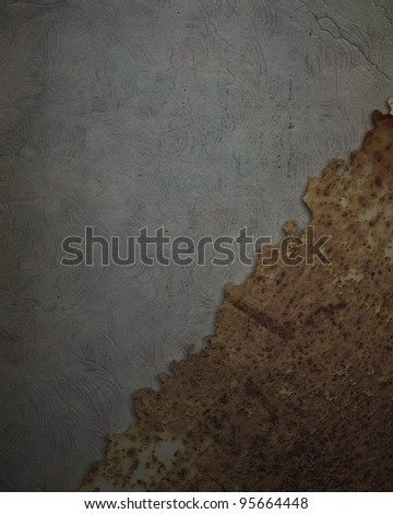 Rust strip on wall background