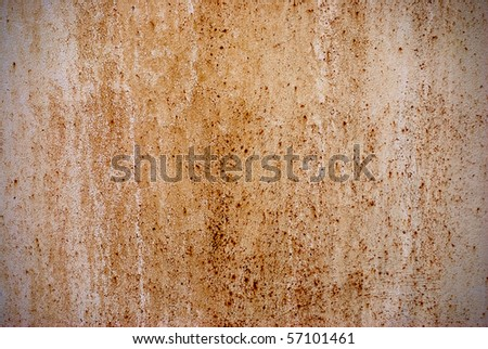Rust - texture, corrosion, old iron wall - stock photo