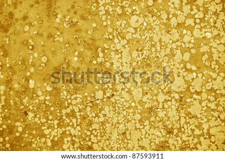 rust texture yellow tones close up - stock photo