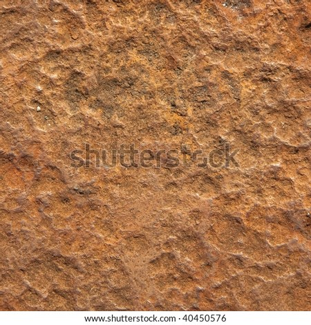 Rusted and eroded metal surface texture