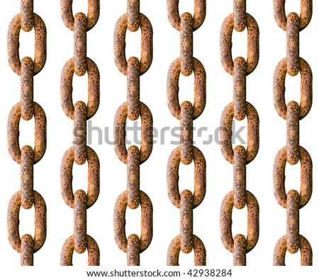 Rusted chain seamless backdrop - pattern for continuous replicate. - stock photo