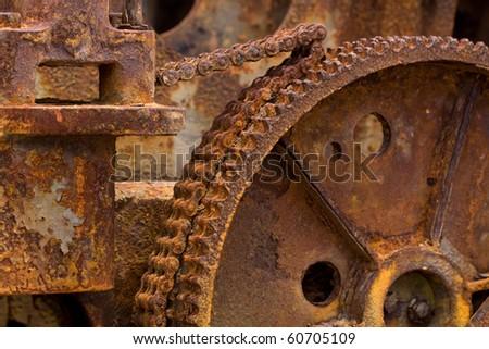 Rusted Engine Background - stock photo