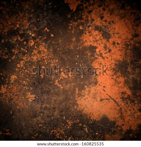 rusted iron plate - stock photo