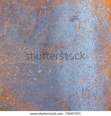rusted iron plate texture,grungy background - stock photo