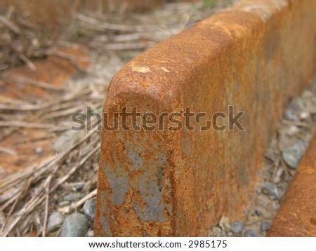 Rusted Machine Track - stock photo