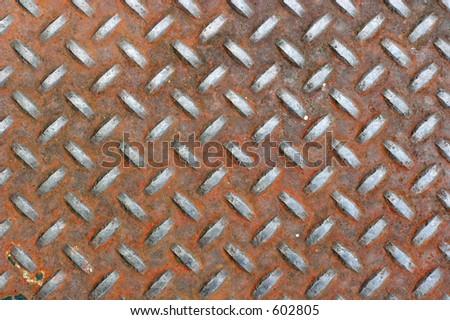 Rusted metal - stock photo
