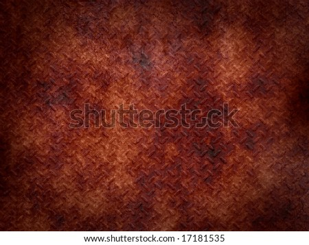 rusted metal plate - stock photo