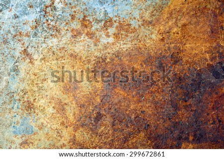 Rusted metal texture - stock photo