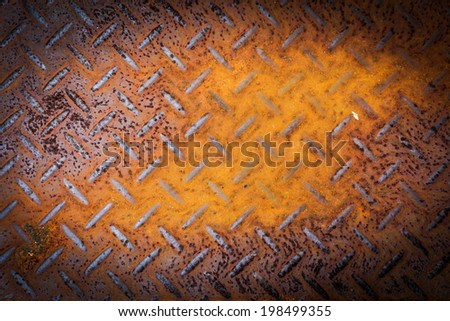 Rusted Metal with Diamond Pattern