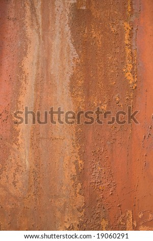 Rusted painted metal for a background - stock photo