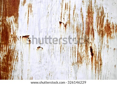 Rusted scratch grey painted on metal wall background. Grunge texture surface metal sheet. Vintage and retro backdrop. Close up. - stock photo