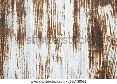 Rusted sheet texture painted scratch metal wall background. Grunge texture surface metal sheet. Vintage and retro wallpaper. Close up. - stock photo