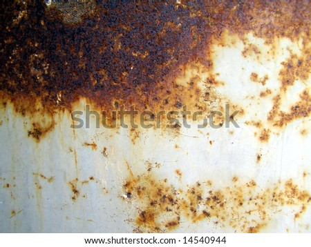 Rusted steel - stock photo