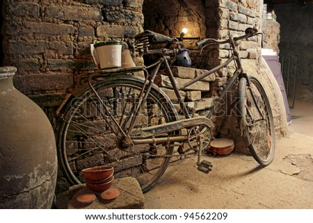 Rusted Vintage Bike - stock photo