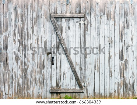 Rustic barn doors wooden planks and locks closeup peeling paint and weathered & Farm Door Stock Images Royalty-Free Images \u0026 Vectors | Shutterstock Pezcame.Com